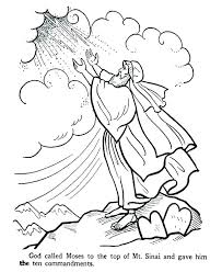 Ten Commandments Coloring Page Commandments Coloring Pages Catholic