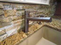 Kitchen With Stone Backsplash Stylish Stone Backsplash Also Garden Stone Kitchen Backsplash