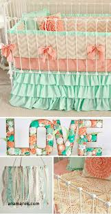 colorful baby bedding awesome mint peach baby bedding girl crib bedding baby girl bedding c