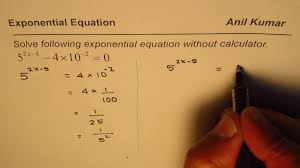 how to solve exponential equation without calculator ib math sl you