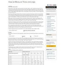 How To Measure Trees And Logs Mu Extension