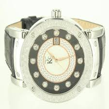 1000 ideas about mens designer watches leather band men classy white steel elegant diamond watch kc bling king ice custom