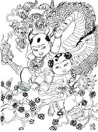 Dragon Coloring Pages For Adults Detailed Dragon Coloring Pages Page