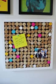Wine cork bulletin board via A Beautiful Mess