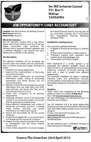 Chief Accountant Tayoa Employment Portal