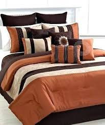 orange and brown bedding. Plain Brown Burnt Orange And Brown Comforter Set On Bedding T