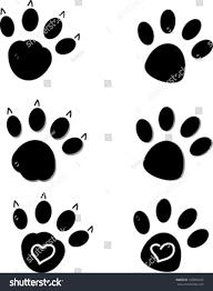 Cat Paw Design Creative Cartoon Design Dog Cat Paws Stock Vector Royalty