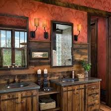 Bathroom Likable Rustic Bathroom Double Breathtaking Vanities To