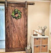 best z brace barn door with standard hangers in raw steel pine with of keyword