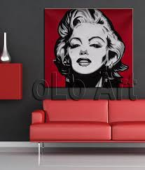hand painted contemporary modern b w pop art y marilyn monroe oil paintings on canvas olo pp023 in painting calligraphy from home garden on