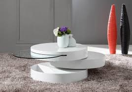Modern coffee tables white Centerpiece Modern Your Bookmark Products Tier Modern White Swivel Coffee Table La Furniture Store Tier Modern White Swivel Coffee Table