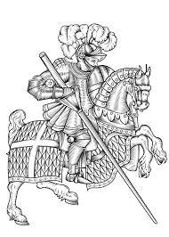 Ridder Kleurplaat 35 Kleurplaten Van Ridders Musketiers Zwaarden Etc
