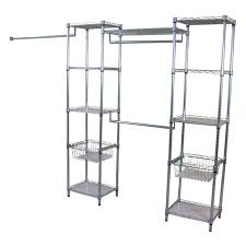 metal closets real organized lo metal deluxe closet organizer at metal closets