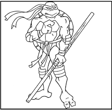 Small Picture Teenage Mutant Ninja Turtles Donatello coloring picture for kids