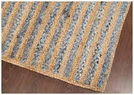 rugsville multicolour denim jute braided rug 4 x 6