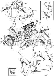Volvo Penta Exploded view / schematic Fuel Injection Pump and Fuel ...
