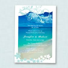 Beach Invitation Seaside Blue Beach Theme Engagement Party Invitation Cards