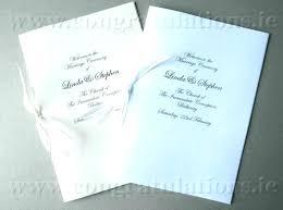 Wedding Ceremony Brochure Catholic Wedding Ceremony Booklet Template