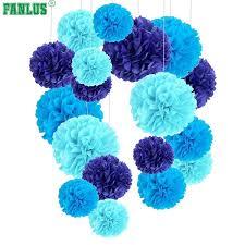 Diy Flower Balls Tissue Paper Fanlus 6inch Pompon Tissue Paper Pom Poms Flower Balls For Wedding Room Decoration Party Supplies Diy Craft Paper Flower C18122201 Wedding Party