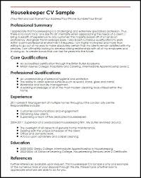 Housekeeper Resume Duties Housekeeping Example Hotel Sample Examples Classy Housekeeper Resume