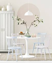 small dining room with small round table