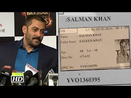 Appears On Id Khan's Hyderabad Card Life Voter's Bollywood Salman Picture