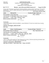 19 - 33 CDFA BLID Livestock Bulletin