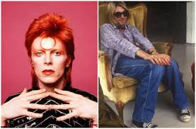 david bowie in 1973 and kurt cobain in 1993source