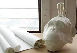 whimsical lighting fixtures. Plain Lighting Chimpanzeehead Table Lamp For Whimsical Lighting Fixtures
