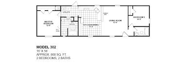double wide floor plans 2 bedroom. model-302-14x56-2bedroom-2bath-oak-creek-mobile- double wide floor plans 2 bedroom u