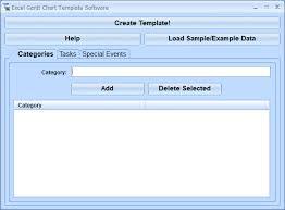 Load Chart Template Excel Excel Gantt Chart Template Software Windows 10 Screenshot