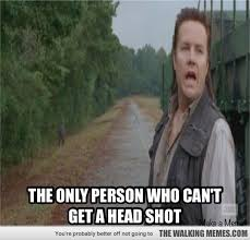 In show full of improbable head shots - - Walking Dead Memes and ... via Relatably.com