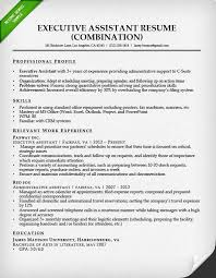 Resume Executive Cool Sample Resume For Executive Assistant Free