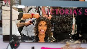 new york ny november 08 alanna arrington poses before the 2018 victoria s secret fashion show at