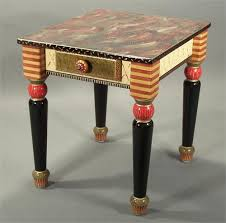 hand painted furnitureTurned Leg End Table Tomato from Suzanne Fitch Handpainted Furniture