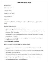Census Clerk Sample Resume Simple Sample Literacy Coach Resume Template How To Make A Good Teacher