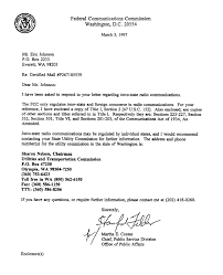 Fcc Letter Admits Its Jurisdiction Is Interstate And Foreign Commerce