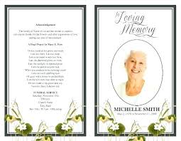 Funeral Pamphlet Templates Custom Funeral Pamphlet Template Word Obituary Program Free Online