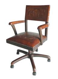 swivel office chair colonial antique brown antique swivel office chair