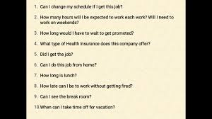 Questions To Not Ask In An Interview 10 Questions You Should Not Ask In The Interview Youtube