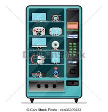 Vending Machine Clip Art Free Mesmerizing Vector Vending Machine With Electronic Devices Gadgets Machine