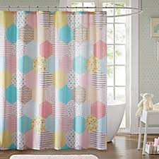 cool shower curtains for kids. Image Of Urban Habitat Kids Trixie 72-Inch Shower Curtain In Yellow/Pink Cool Curtains For