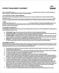Property Management Agreement Template Free Property Contract ...