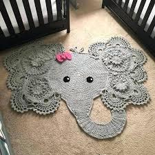 elephant rugs shaped