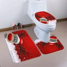3pcs set snowman santa toilet seat cover