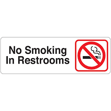 restroom directional sign. No Smoking In Restrooms Directional Sign Restroom