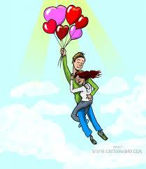 Heart Shaped Balloon Love Story Cartoon Magnificent In Love Cartoon