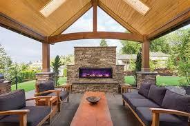 amantii panorama deep 50 built in outdoor electric fireplace w cover bi 50 deep od