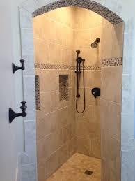 doorless shower bathroom