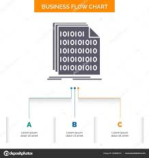 Code Stock Chart Binary Code Coding Data Document Business Flow Chart Design